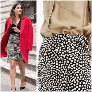j. crew // pebble metallic bow waist mini skirt 8P